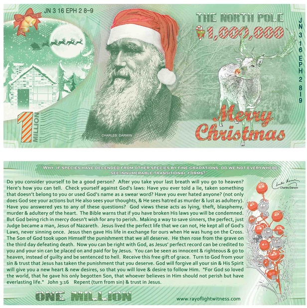 Christmas Gospel Tracts.Christmas Million Note Gospel Tracts